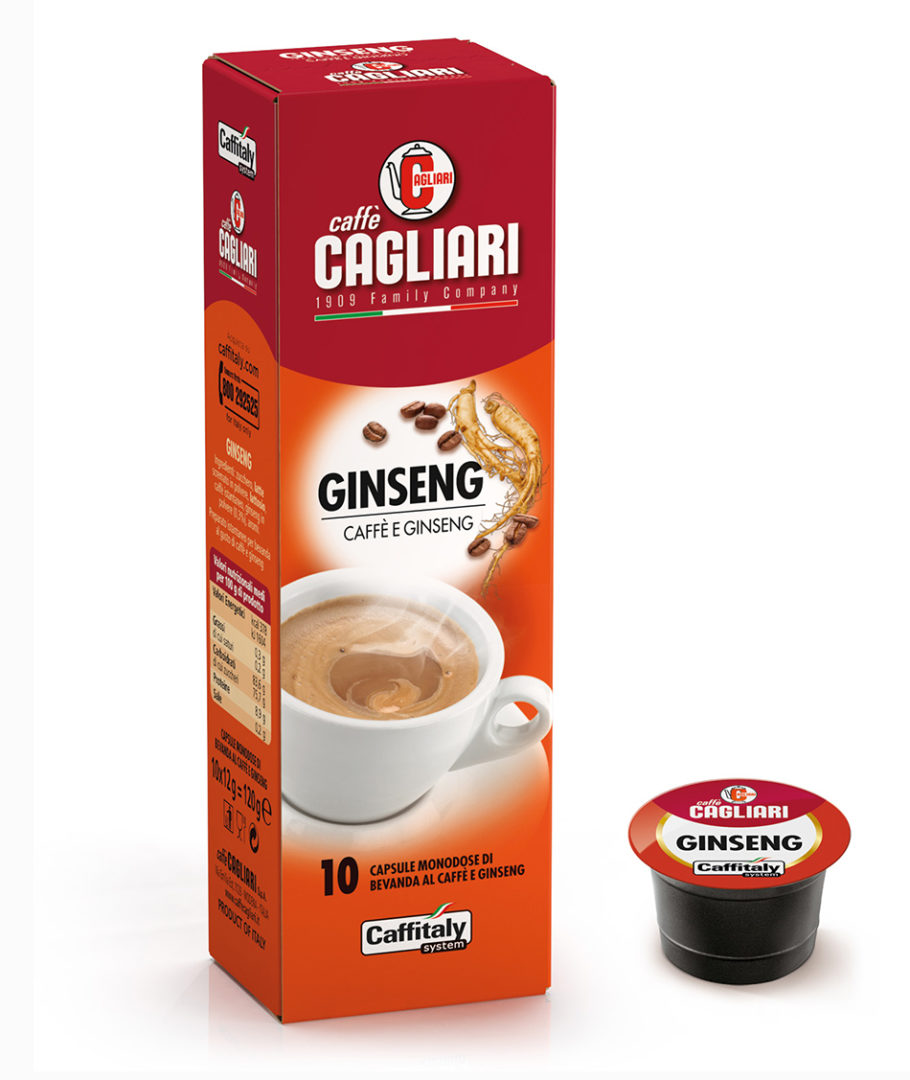 10 Capsule Cagliari Ginseng Caffitaly