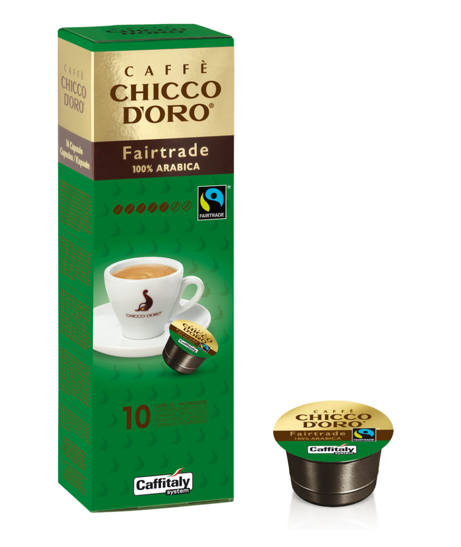10 Capsule Caffè Chicco D'oro Fair Trade Caffitaly