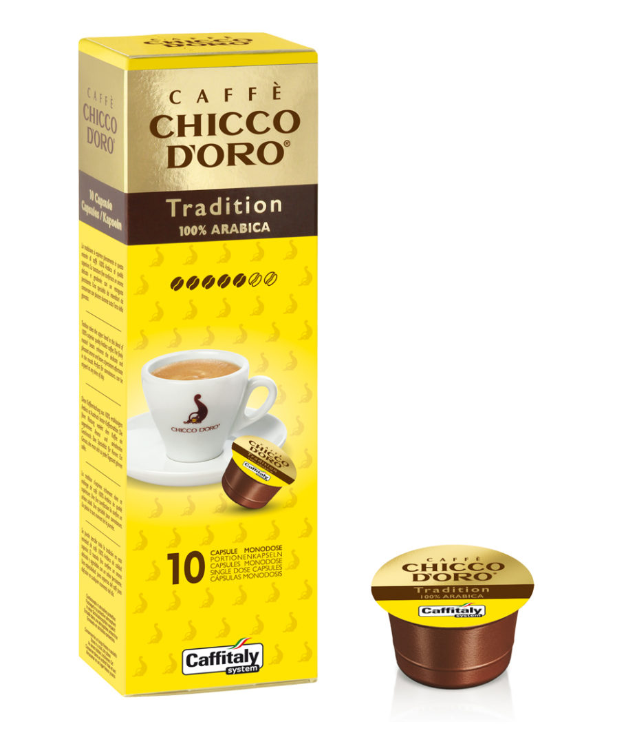 10 Capsule Caffè Chicco D'oro Tradition Caffitaly