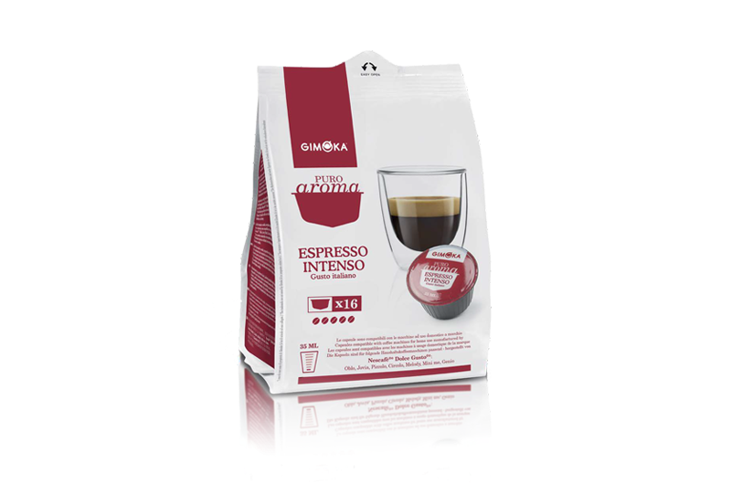16 Capsule Gimoka Caffè Espresso Intenso Compatibile Dolce Gusto