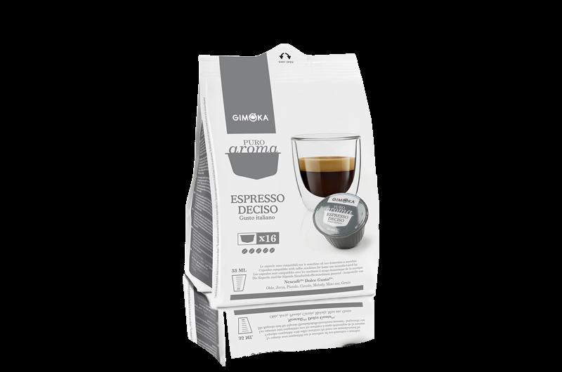 16 Capsule Gimoka Caffè Espresso Deciso Compatibile Dolce Gusto