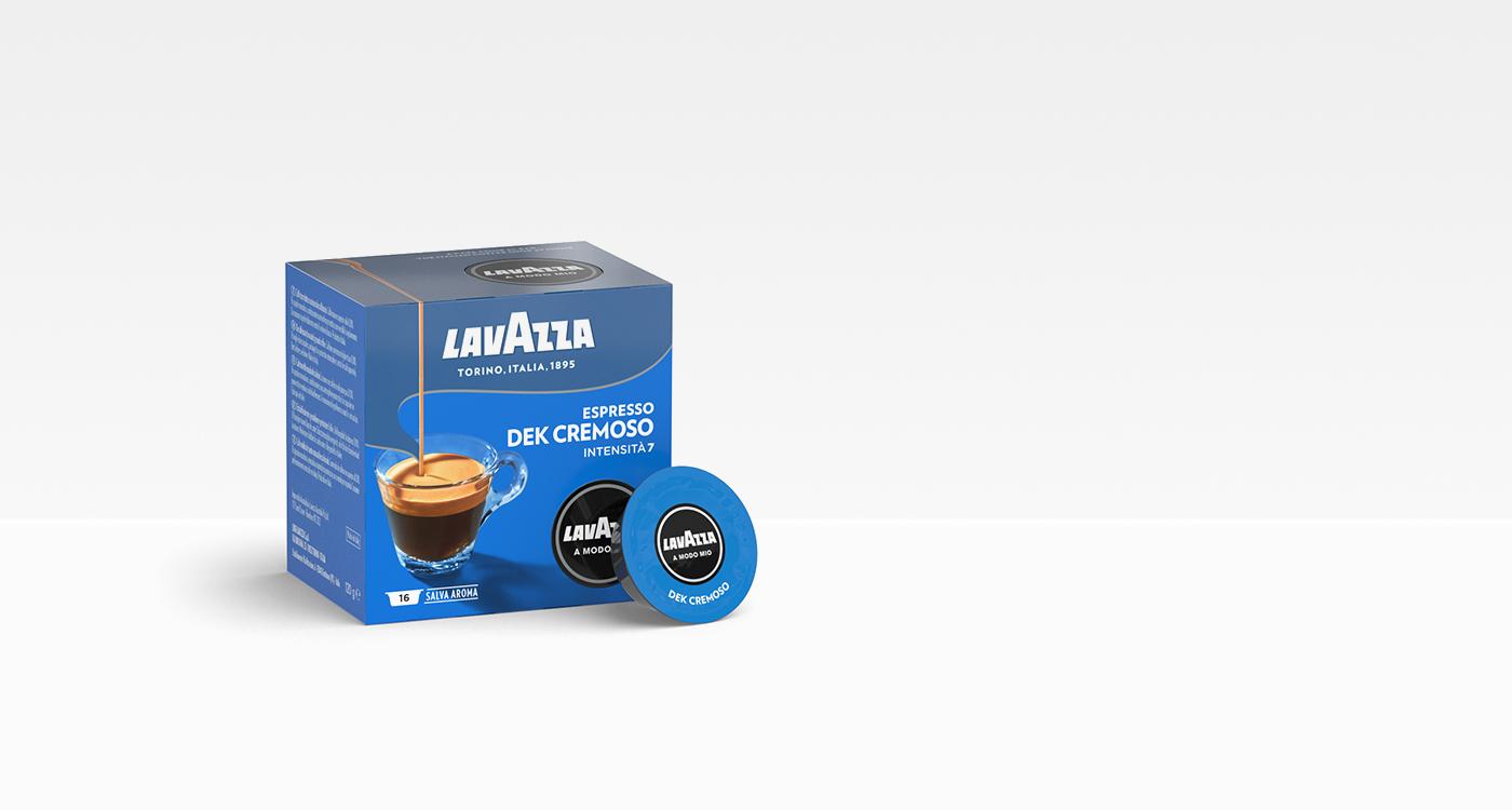 16 Capsule Caffè Lavazza A Modo Mio Dek Cremoso